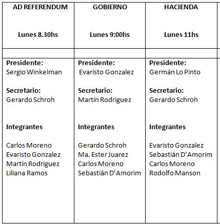 Comisiones Ordinarias 2017 pic
